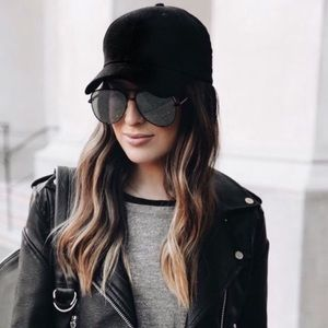 Black womens baseball hat